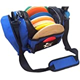 Disc Golf Bag - Holds Up To 12 Discs - Blue Frisbee & Disc Golf Bag - Drink Holder Up To 1 Liter Bottle - Disc...