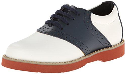 Academie Gear Spirit Saddle Shoe ,White/Navy,2.5 M US Little