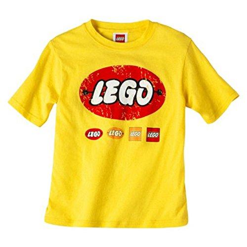 LEGO® Storage Orange Transparent Round Brick 1 with Retro LEGO® T-shirt