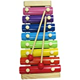 DCS Cute Big Multicolor Wooden Xylophone For Kids Musical Toy With 8 Notes