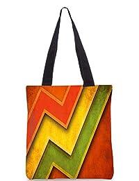Snoogg Red Yellow Green Digitally Printed Utility Tote Bag Handbag Made Of Poly Canvas