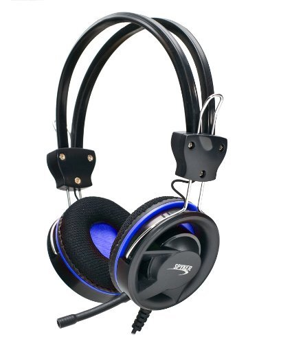 Syba CL-AUD63021 Blue Stereo Gaming Headset With Removable Microphone - Blue
