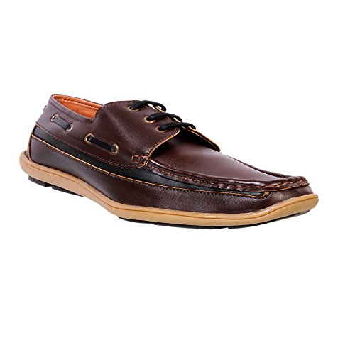 Nonch Le Brown Lace Up Casual Shoes