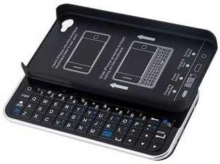 iPhone 4/4S専用 日本語説明書付き スライド式Bluetooth ミニキーボードケース バックライト搭載/ブラック