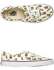 Vans Unisex Authentic Deck Club Skate Shoe White/Pineapple Print 11 D(M) US