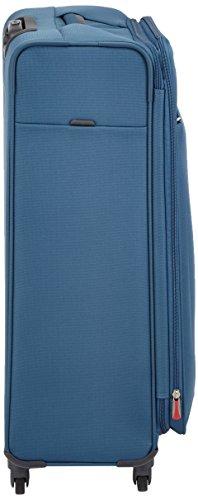 Samsonite Base Hits 4 Roues 77/28 Extensible Valise, 77 cm, 104 L, Steel Blue