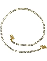 Silver ICE Gold Plated Double Line Kamar Bandh For Women