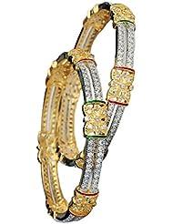 RETTOL American Diamond Pair Of Bangles Set For Women''s - B01KT43TFE
