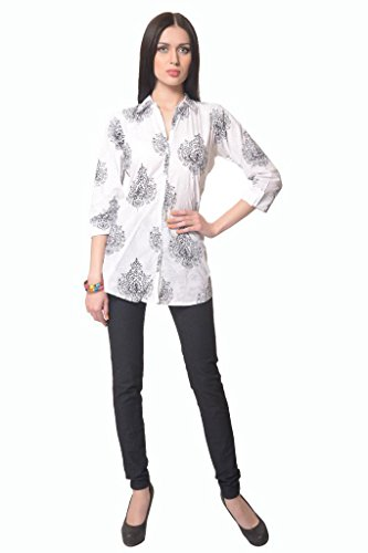 Vastra Vinod Women's Printed Cotton Shirt