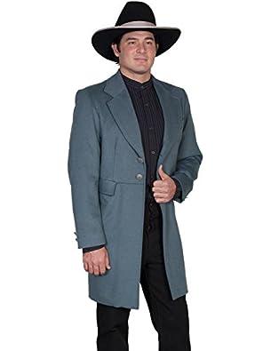 Victorian Mens Suits & Coats Wool Blend Big Frock Coat  AT vintagedancer.com