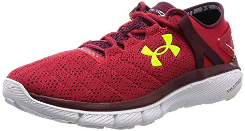 UNDER ARMOUR SpeedForm Fortis Zapatilla de Running Caballero, Rojo, 43