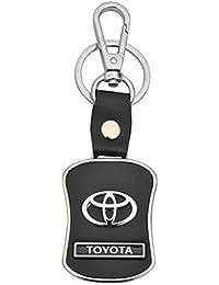 Brighton Toyota Leather Metal Locking Keychain