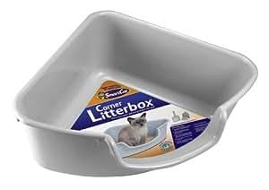 Amazon.com : SmartCat Corner Litter Box, Gray : Covered
