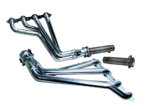 BBK 4031 1-3/4″ Full Length Long Tube High Flow Performance Exhaust Headers System With Off Road Only Pipes for Camaro V8, SS, LS3, L99 – Chrome Finish