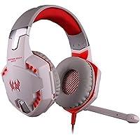 Megedream Update Version USB 3.5mm Gaming Headset KOTION EACH G2000 LED Light Game Mic Stereo Bass Headphone Earphone... - B01H1FNAF8
