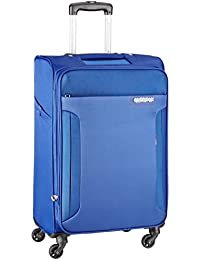 American Tourister Troy Polyester 68 Cms Royal Blue Soft Sided Suitcase (AMT TROY SP68 ROYAL BLUE)