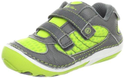 Stride Rite SRT SM Ronaldo Sneaker ,Bright Lime/Grey,4 W US