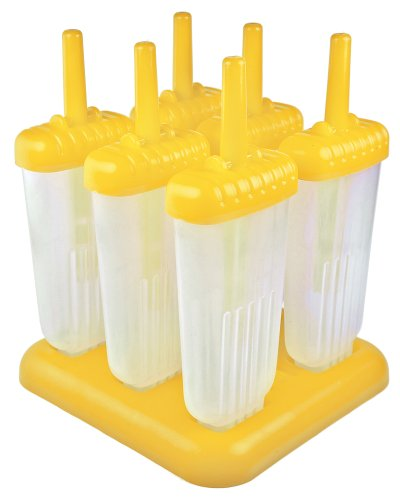 Make Healthy Coffee & Vanilla Yogurt Popsicles with Tovolo Groovy Ice Pop Molds - Yellow