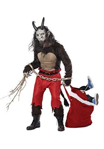 California Costumes Men's Krampus the Christmas Demon, Brown/Red, X-Large