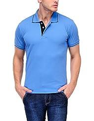 Scott Men's Premium Cotton Polo T-shirt - Indian Blue