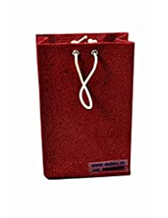 Mudra-Maroon Coloured Paper Bag Small (Pack Of 50 - INR 20 Each)