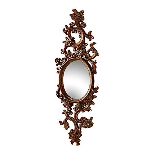 Design Toscano Delphine Accent Wall Mirror, Bronze