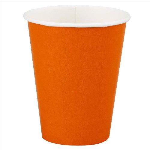 12oz Orange Paper Cups: package of 10