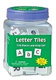 Eureka Tub Of Letter Tiles, 176 Tiles in 3 3/4