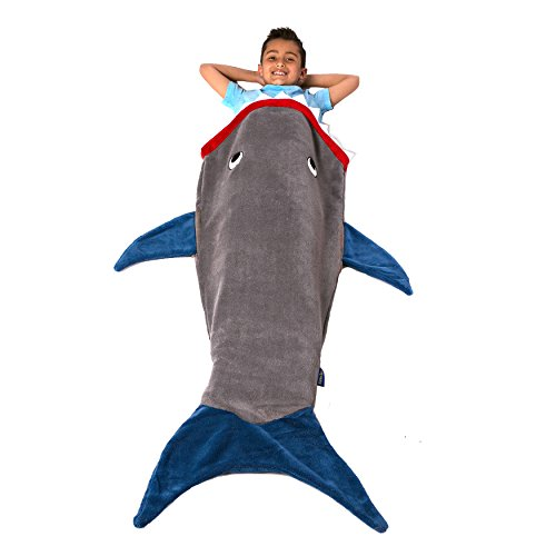 Shark Blanket, Gray & Deep Blue