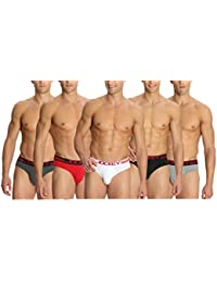 Jockey Zone Stretch Men's Bikini Briefs - Assorted Pack Of 5 (Colors May Vary)