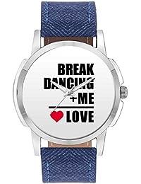 Wrist Watch For Men - Me + Break Dancing = Love | Best Gift For Break Dancing Lovers - Analog Men's And Boy's...