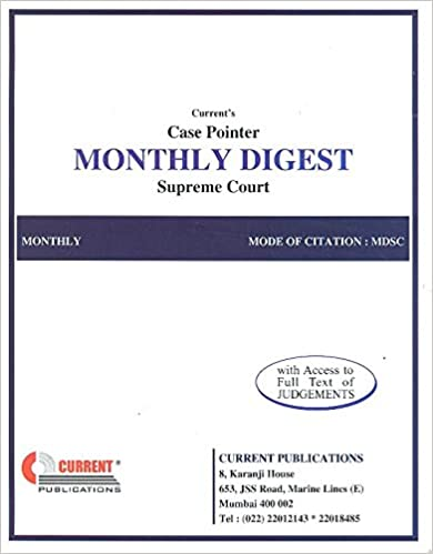 Monthly Digest - Supreme Court Paperback – 2017