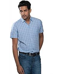Blue And White Checkered Shirt.