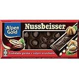 Alpen Gold Nussbeisser Dark Chocolate With Whole Hazelnuts 100g