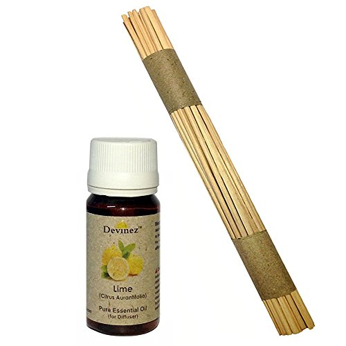 Devinez Premium Reed Sticks/ Refill Pack For Reed Diffusers 10 Inches (100 Sticks) With Free 15ml Lime Oil For...