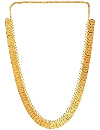 Meenaz Traditional Laxmi Coin Temple Necklace Sets Jewellery Sets Gold Plated Jewellery Sets For Women,Girls NL150