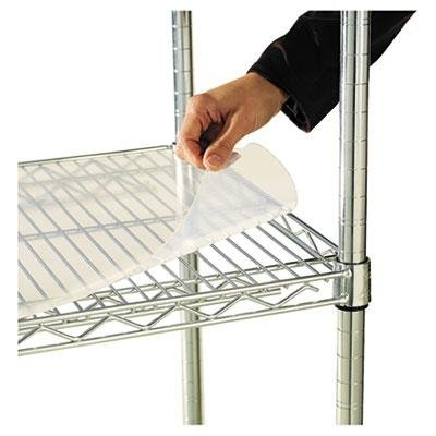 Alera Shelf Liners For Wire Shelving, Clear Plastic, 36W X 1