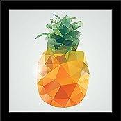 ArtzFolio Polygonal Fruits 8 - Small Size 11.0 Inch X 11.0 Inch - FRAMED PREMIUM CANVAS Wall Artwork Digital PRINT...