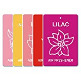 Edelcrafts Car Home Office Paper Hanging Air Freshener (Buy 4 Get 5) - FREE SHIPPING - Choice: Lilac, Lily, Lotus...