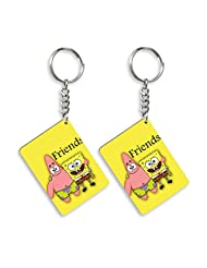 Gift For Friend & Friendship Day Gift Set Of 2 Keychain Design 1