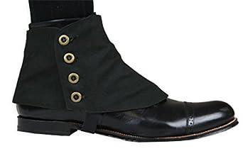 Victorian Men's Shoes & Boots- Lace Up, Spats, Chelsea, Riding Canvas Premium Button Spats $31.95 AT vintagedancer.com