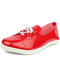 ABJ Fashion Women's New Stylish Red Casuals Shoes