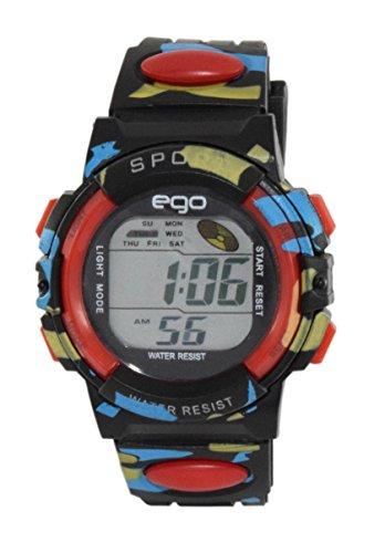 Maxima Ego Digital Black Dial Men's Watch - E-37180PPDN