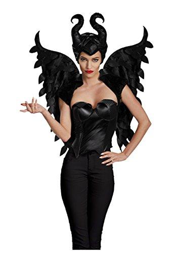 Halloween 2017 Disney Costumes Plus Size & Standard Women's Costume Characters - Women's Costume CharactersDisguise Women's Disney Maleficent Movie Maleficent Adult Wings Costume Accessory, Black, One Size