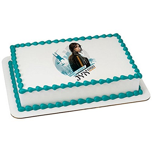 1/2 Sheet - Star Wars Rogue One Licensed Rebel Leader Birthday - Edible Cake/Cupcake Party Topper!!!