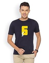Campus Sutra Blue Round Neck Tshirt Six
