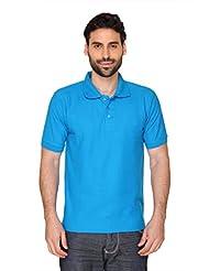 Blacksmithh 100% Combed Cotton Polo Tshirt - Blue