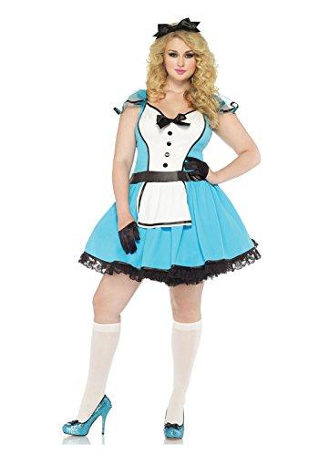 Halloween 2017 Disney Costumes Plus Size & Standard Women's Costume Characters - Women's Costume CharactersLeg Avenue Women's Plus-Size 2 Piece Storybook Alice Costume, Blue/White