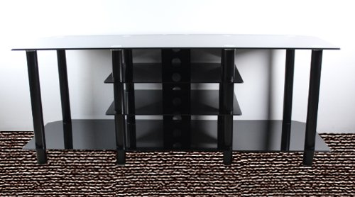 stand with shelves buy low price carromata 60 inch glass and metal tv stand 2476