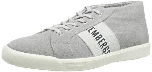 Bikkembergs 660247 - Zapatillas de cuero para hombre, color gris, talla 42